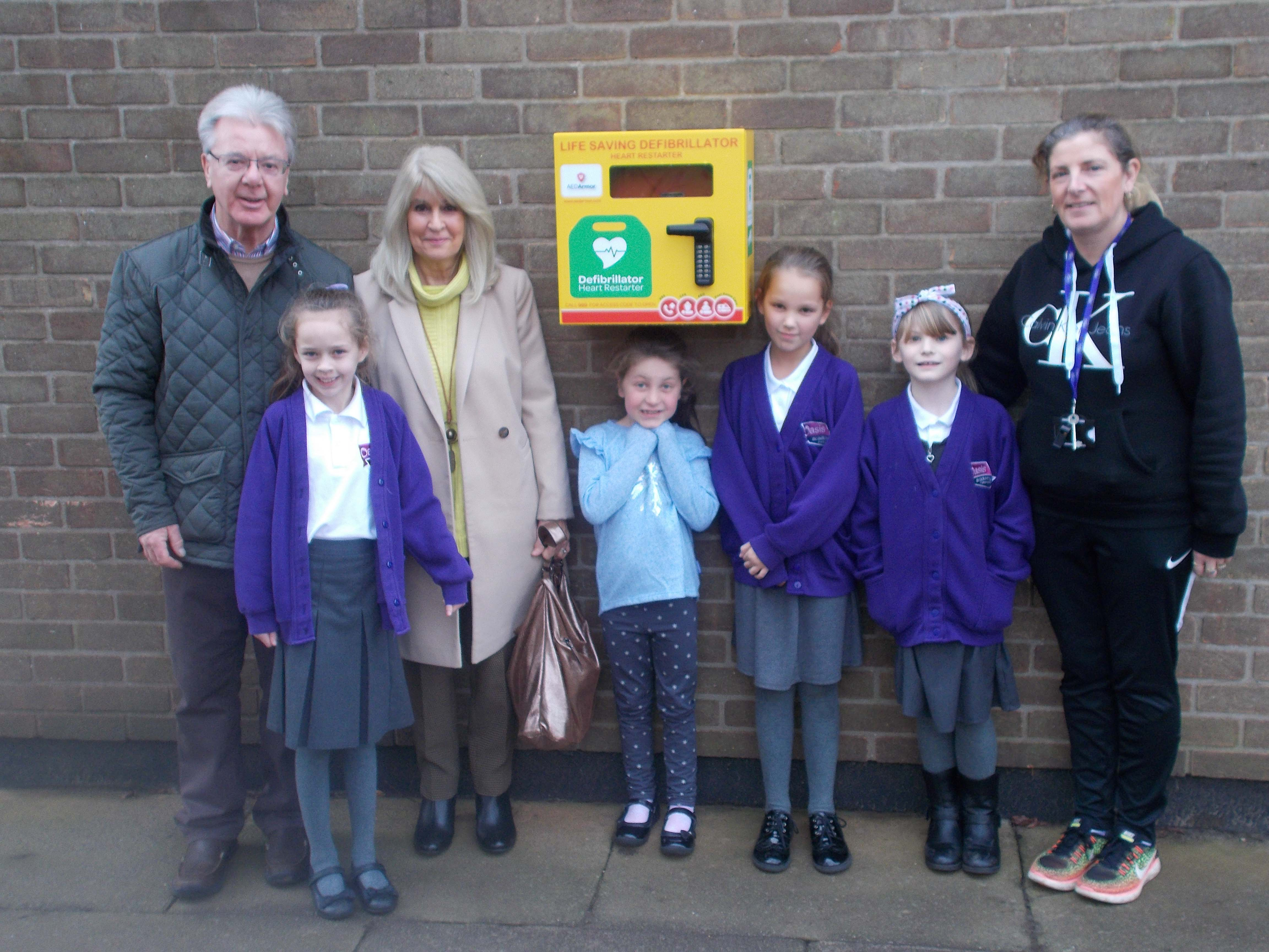 Oasis Academy Parkwood receives potentially life-saving donation